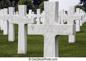 somme, -, 墓地, 戦争, フランス