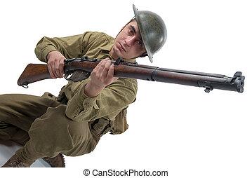 somme, 1916., 英国の陸軍, ww1, 兵士