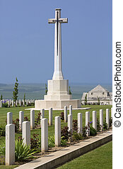 somme, la, 墓地, -, フランス, 戦争