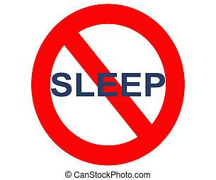 sommeil, insomnie, ou, non