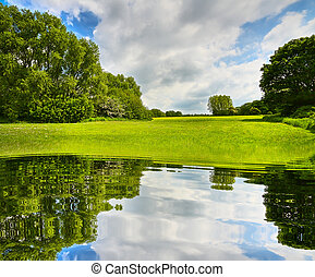 sommer, ökologie, landschaftsbild