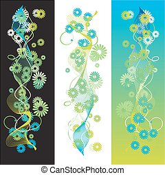 sommer, abstrakt, baggrund, retro, scroll