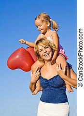 sommer, baloon, morskab