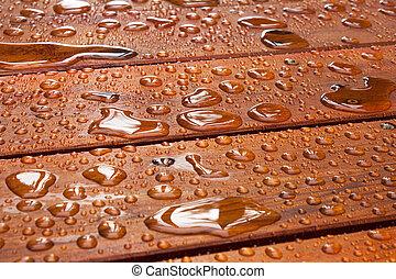 sommer, deck, regen