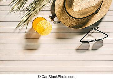 Folkekære Sommer, strand, tilbehør, drinks. Sommer, drinks, strand, hav skal. RC-45