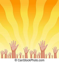 sommer, fans , sonnenaufgang