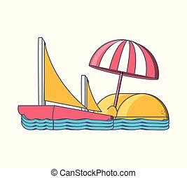 sommer feiertag, badeurlaub