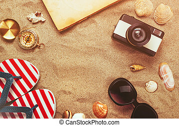 sommer feiertag, urlaub, accessoirs