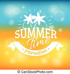 sommer feiertag, urlaub, hintergrund, plakat