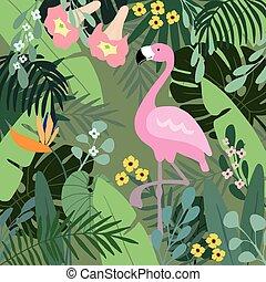 exotische sommer flamingo grafik vogel tropische vektoren suche clipart. Black Bedroom Furniture Sets. Home Design Ideas