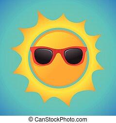 sommer, hüfthose, sonnenbrille, sonne