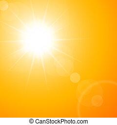 sommer, heiß, sonne
