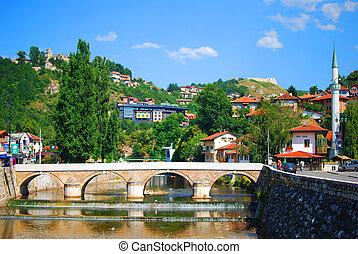 sommer, herzegovina, sarajevo, bosnien, hauptstadt