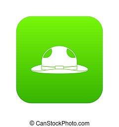 sommer- hut, ikone, digital, grün