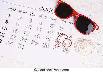sommer, kalender, schedule.