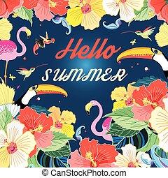 sommer, klar, baggrund