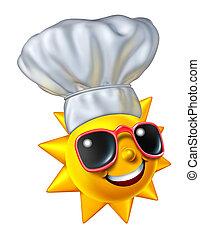 sommer, kochen