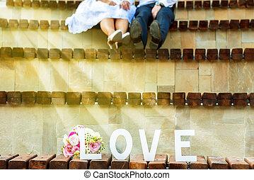 sommer, Paar, junger,  wedding