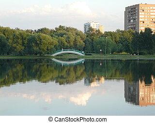sommer, park