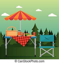 sommer, picknick, draußen