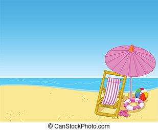 sommer, sandstrand