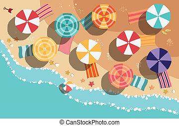 sommer, sandstrand, design, wohnung