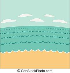 sommer, seascape.