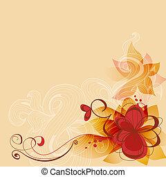 sommer, vektor, blomster