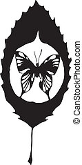 sommerfugl, forlad, lavede, eps