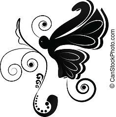 sommerfugl, logo