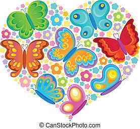 sommerfugl, tema, image, 4