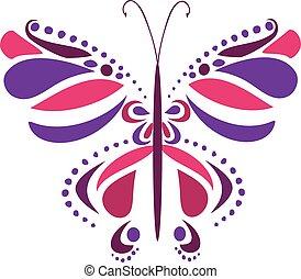 sommerfugl, vektor