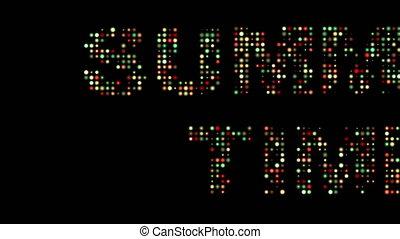 sommerzeit, bunte, leuchtdiode, zeichen