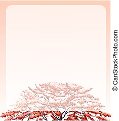 sommet arbre, frontière, conception
