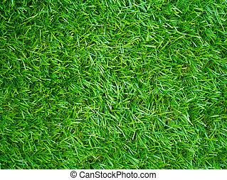sommet, artificiel, champ, texture, herbe, vue