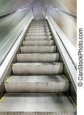 sommet, ascensions, escalator, centre commercial