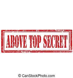 sommet, au-dessus, secret-stamp