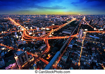 sommet, bangkok, autoroute, autoroute