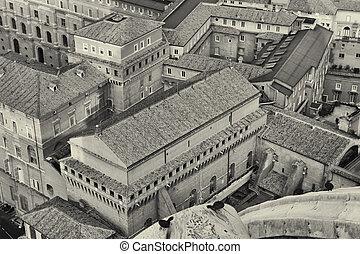 sommet, basilique, peter, rue., vue