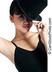 sommet, danseur, chapeau