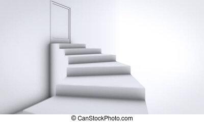 sommet, escalier