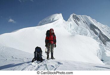 sommet, grimpeur