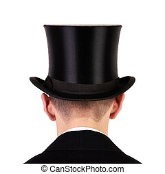 sommet, hommes, chapeau
