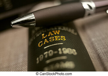 sommet, livre, closeup, stylo, droit & loi