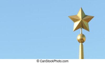 sommet, métal, obélisque, étoile