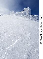 sommet montagne, observatoire, vieux