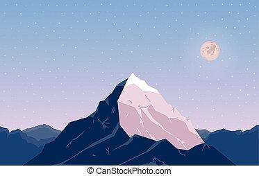 sommet montagne, paysage, 6