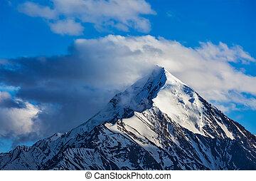 sommet montagne, snowcapped, himalaya