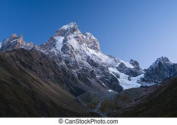 sommet montagne, ushba