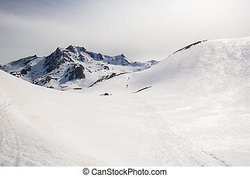 sommet montagne, vers, alpinisme
